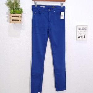 AG the Prima mid rise cigarette jean blue size 25R